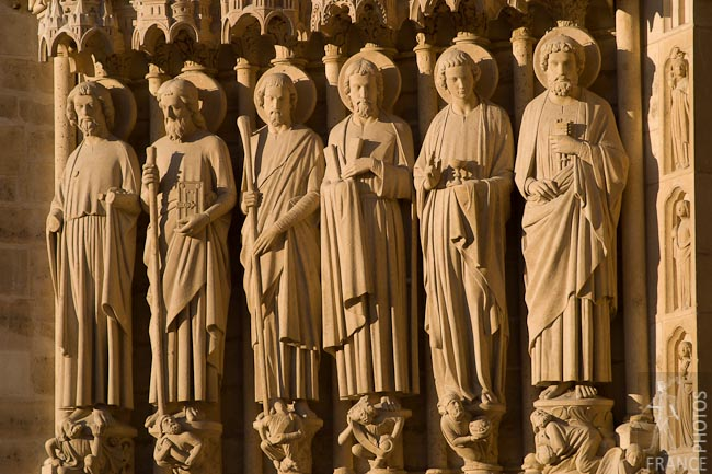 The apostles at Notre Dame