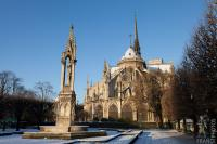 Notre Dame in chilly weather