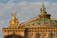 Golden light on the Opera Garnier