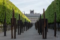 Contemporary scultures in the Palais Royal
