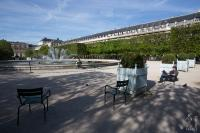 Relaxing in the Palais Royal gardens