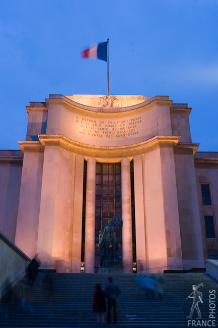 On the Palais de Chaillot stairs