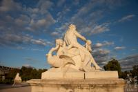 Golden hour at the Tuileries