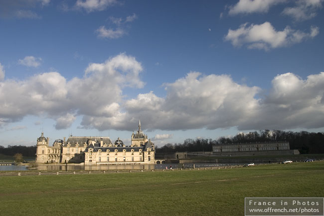 Chantilly château on a good day