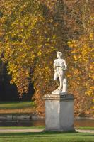 Statue and Fall colors in the Chantilly castle gardens
