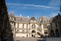 Pierrefonds castle inner courtyard