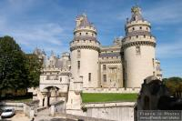 Pierrefonds castle outer courtyard