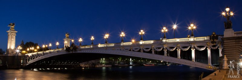 Alexander 3 bridge panorama